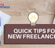 Quick Tips for New Freelancers